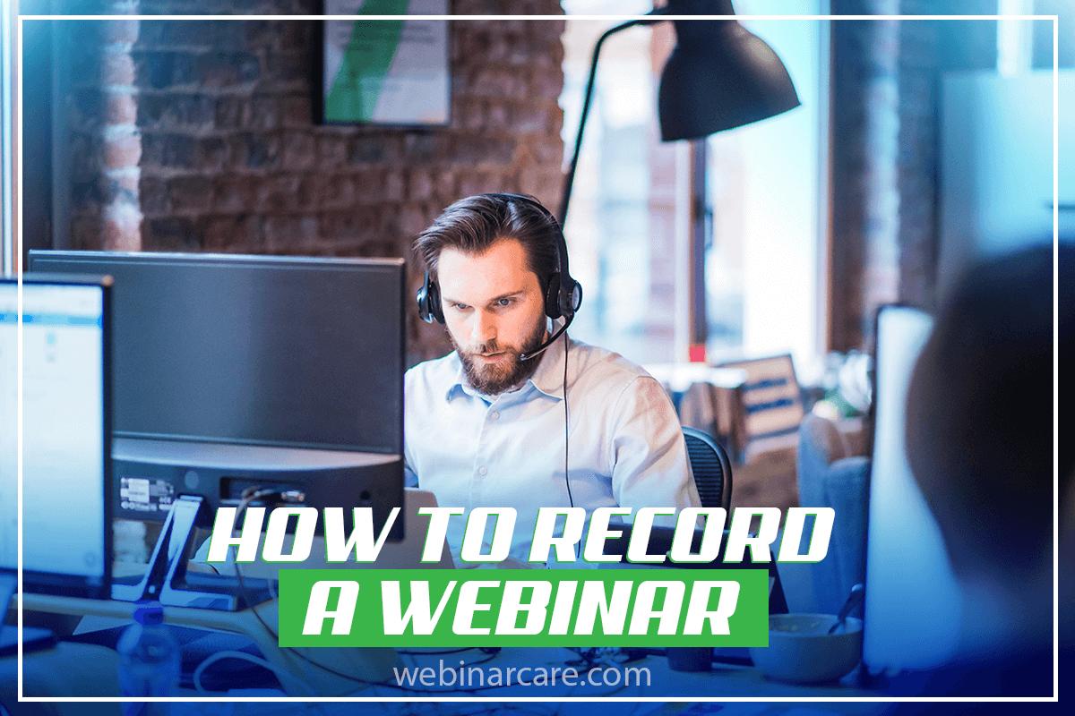 record a webinar